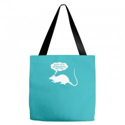 rat funny geek nerd scientific experiments are fun Tote Bags | Artistshot