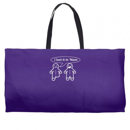 I Lost It In 'nom Weekender Totes Designed By Gematees