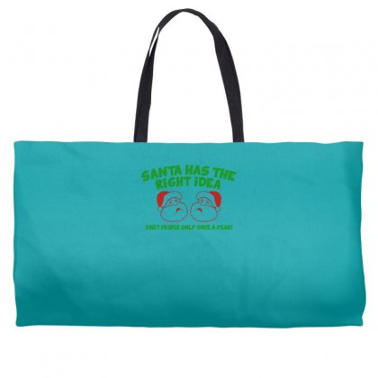 Santa Has The Right Idea Weekender Totes Designed By Gematees