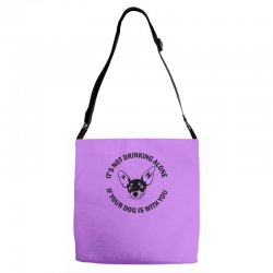 funny drinking dog Adjustable Strap Totes | Artistshot