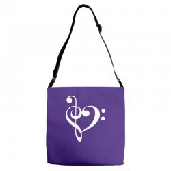 music heart rock baseball Adjustable Strap Totes | Artistshot
