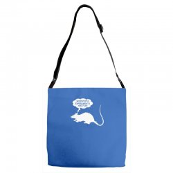 rat funny geek nerd scientific experiments are fun Adjustable Strap Totes | Artistshot
