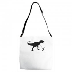 funny t rex pet banksy guys stencil t shirt indie Adjustable Strap Totes | Artistshot