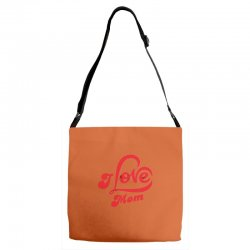 I love mom Adjustable Strap Totes | Artistshot