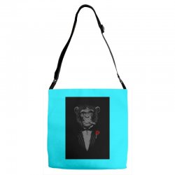 Monkey Busniseman Adjustable Strap Totes | Artistshot