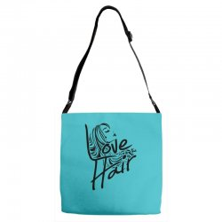 love is in the hair Adjustable Strap Totes   Artistshot