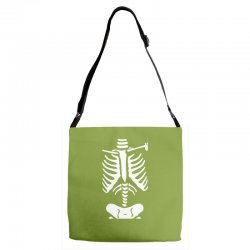 funny bone skeleton Adjustable Strap Totes | Artistshot