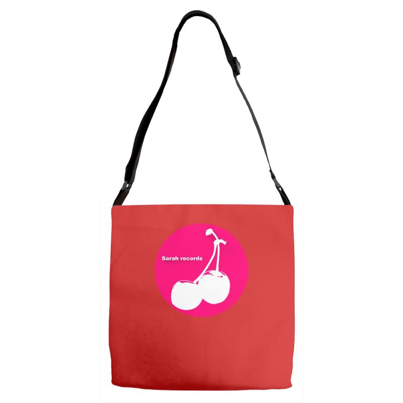 098e3ed33d1260 Custom Sarah Records Cherry Adjustable Strap Totes By Printshirts -  Artistshot