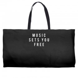 music sets you free Weekender Totes | Artistshot