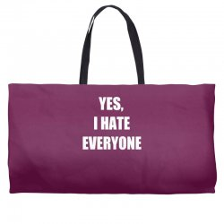 yes i hate everyone Weekender Totes | Artistshot