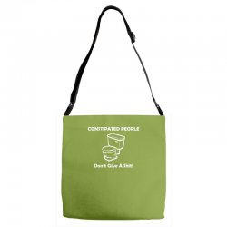constipated people Adjustable Strap Totes | Artistshot
