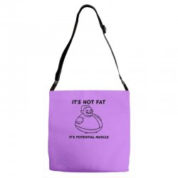 it's not fat, it's potential muscle Adjustable Strap Totes | Artistshot