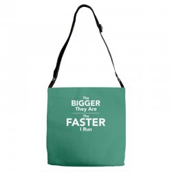 the bigger they are the faster Adjustable Strap Totes | Artistshot