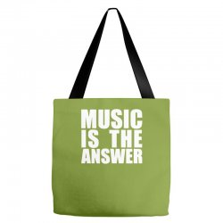 music is the answer printed Tote Bags | Artistshot