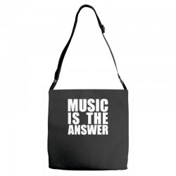music is the answer printed Adjustable Strap Totes | Artistshot