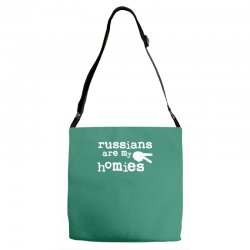 russians are my homies Adjustable Strap Totes | Artistshot