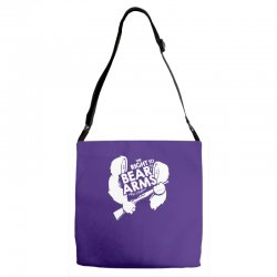 the right to bear arms Adjustable Strap Totes | Artistshot
