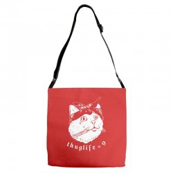 thug cat Adjustable Strap Totes | Artistshot