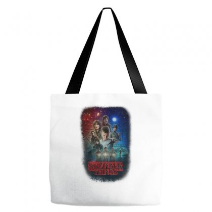 Stranger Things Poster Tote Bags Designed By Vr46