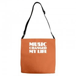 music changed my life Adjustable Strap Totes | Artistshot