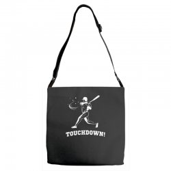 touchdown   funny sports Adjustable Strap Totes | Artistshot