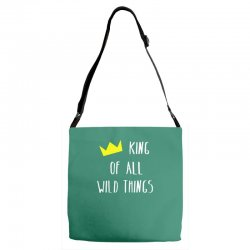 king of all wild things Adjustable Strap Totes | Artistshot