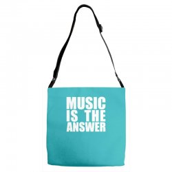 music is the answer Adjustable Strap Totes | Artistshot