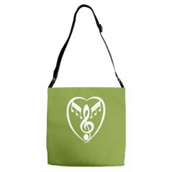 music heart Adjustable Strap Totes | Artistshot