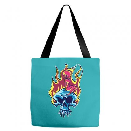 Skull On Fre Tote Bags Designed By Specstore