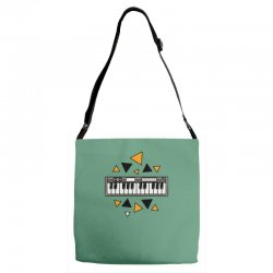 music,keyboard,electronic,piano,triangle,reflections,cute,vectorart, Adjustable Strap Totes | Artistshot