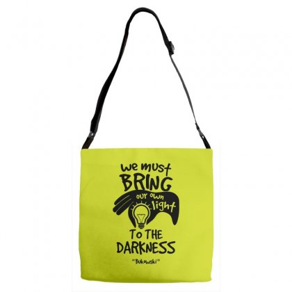 Bring Own Light To The Darkness Adjustable Strap Totes Designed By Specstore