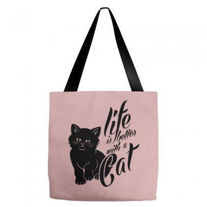 Life Is Better With A Cat Tote Bags Designed By Specstore