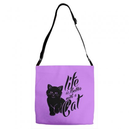 Life Is Better With A Cat Adjustable Strap Totes Designed By Specstore