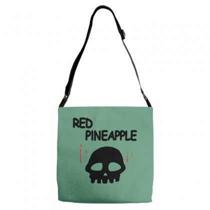 Red Pineapple Adjustable Strap Totes Designed By Specstore