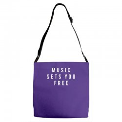 music sets you free Adjustable Strap Totes | Artistshot