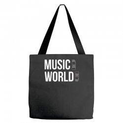 music on world off Tote Bags | Artistshot