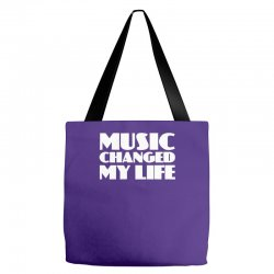 music changed my life Tote Bags | Artistshot