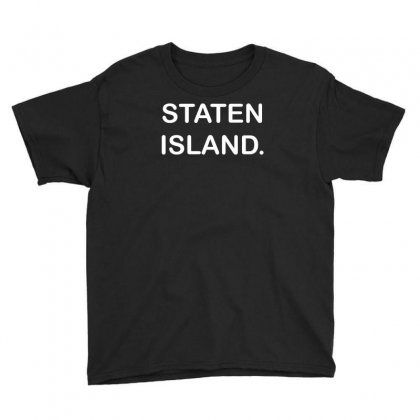 Staten Island Funny Youth Tee Designed By Mdk Art