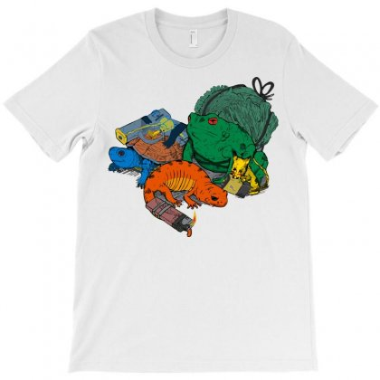 Backyard Pocket Monsters T-shirt Designed By Iamar25