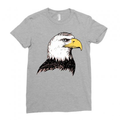 Bald Eagle Ladies Fitted T-shirt Designed By Iamar25