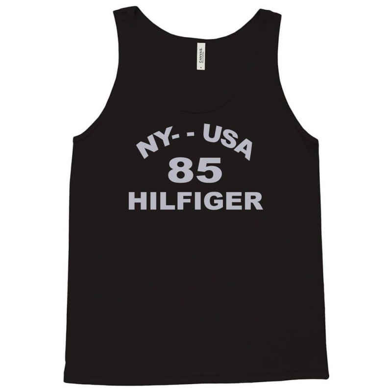 7feb183bdbb Custom Tommy Hilfiger Stencil Logo Tank Top By Mdk Art - Artistshot