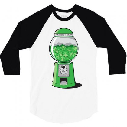 Brussels Sprout Machine 3/4 Sleeve Shirt Designed By Iamar25