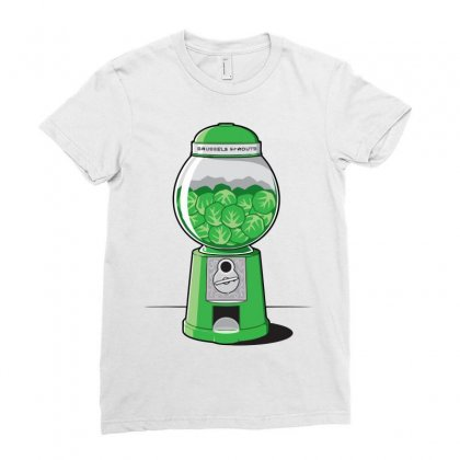 Brussels Sprout Machine Ladies Fitted T-shirt Designed By Iamar25