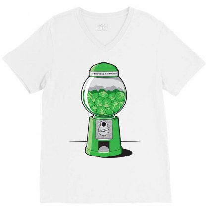 Brussels Sprout Machine V-neck Tee Designed By Iamar25