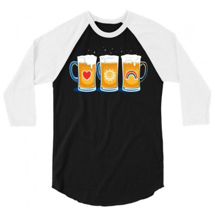 Care Beers 3/4 Sleeve Shirt Designed By Iamar25