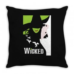 wicked broadway musical about wizard of oz Throw Pillow | Artistshot