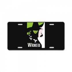 wicked broadway musical about wizard of oz License Plate | Artistshot