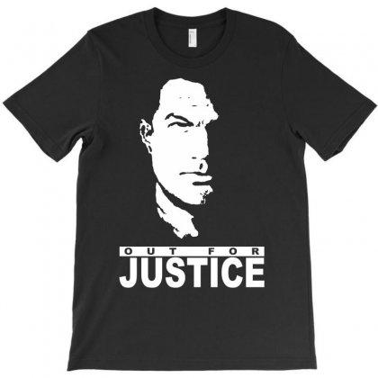 Steven Seagal Out For Justice Retro T-shirt Designed By Iamar25