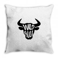 wild bull Throw Pillow | Artistshot