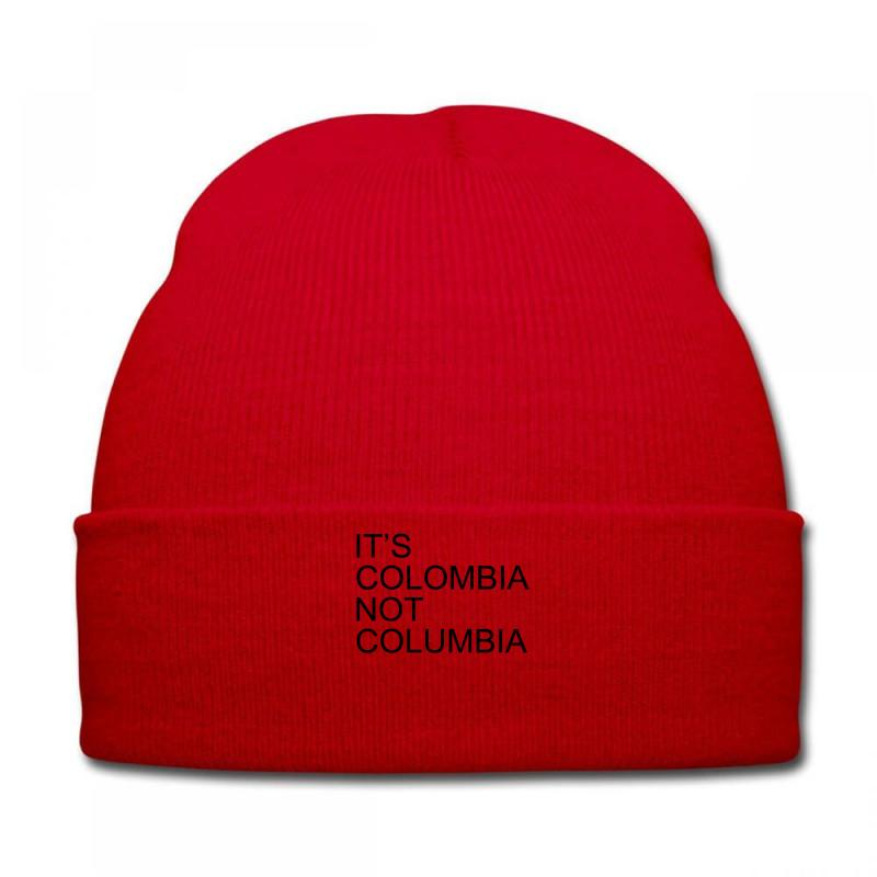 Custom It s Colombia Not Columbia Knit Cap By Rardesign - Artistshot 8751974600d